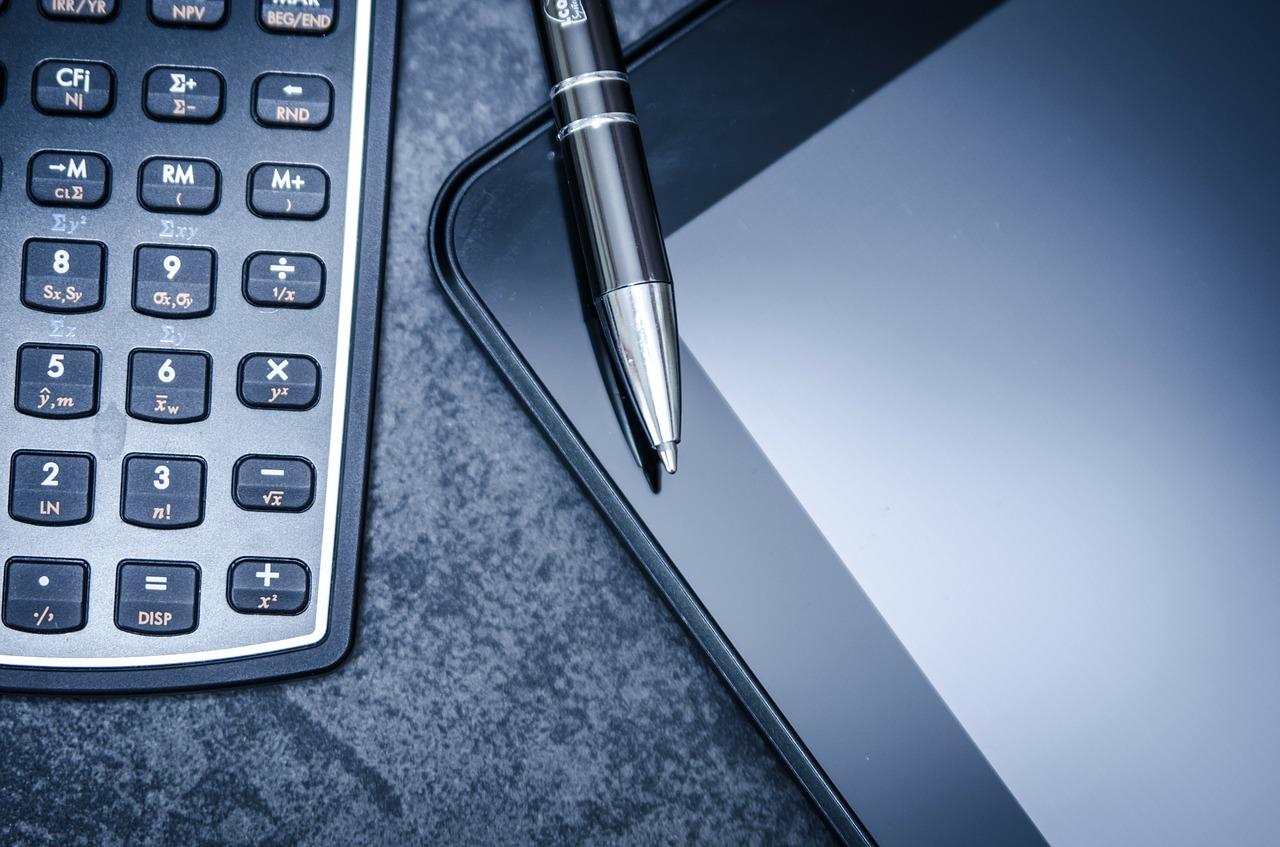 tablet, calculator, business